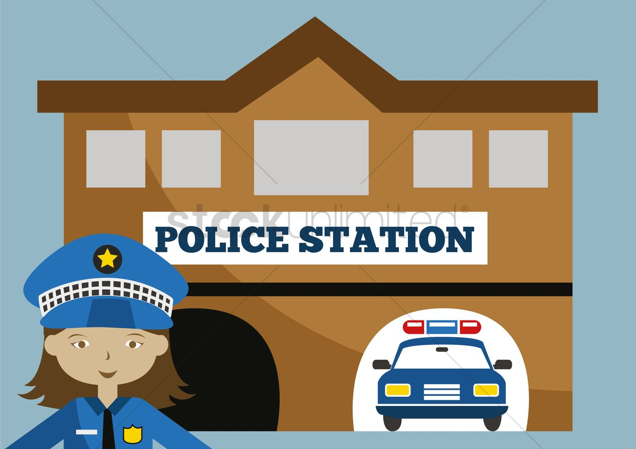 Police station clipart  Police station Vector Image - 1395653 | StockUnlimited
