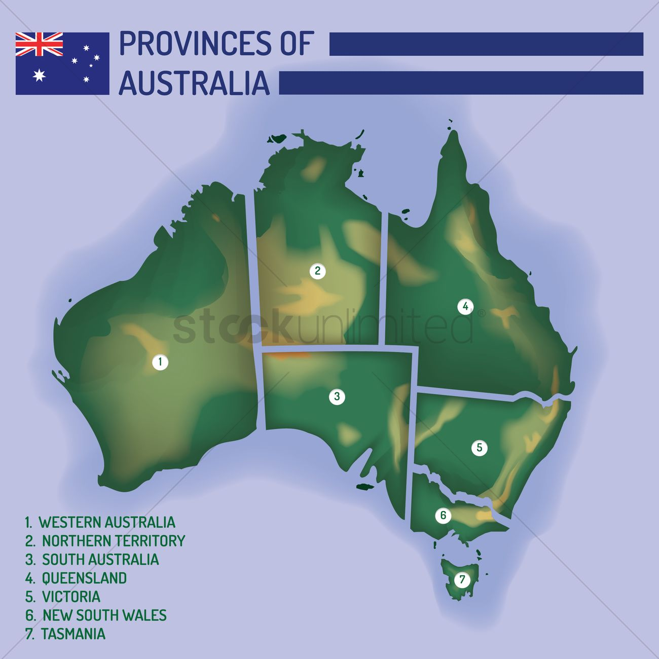 Australia Map Provinces.Province Of Australia On The Map Vector Image 1962173 Stockunlimited