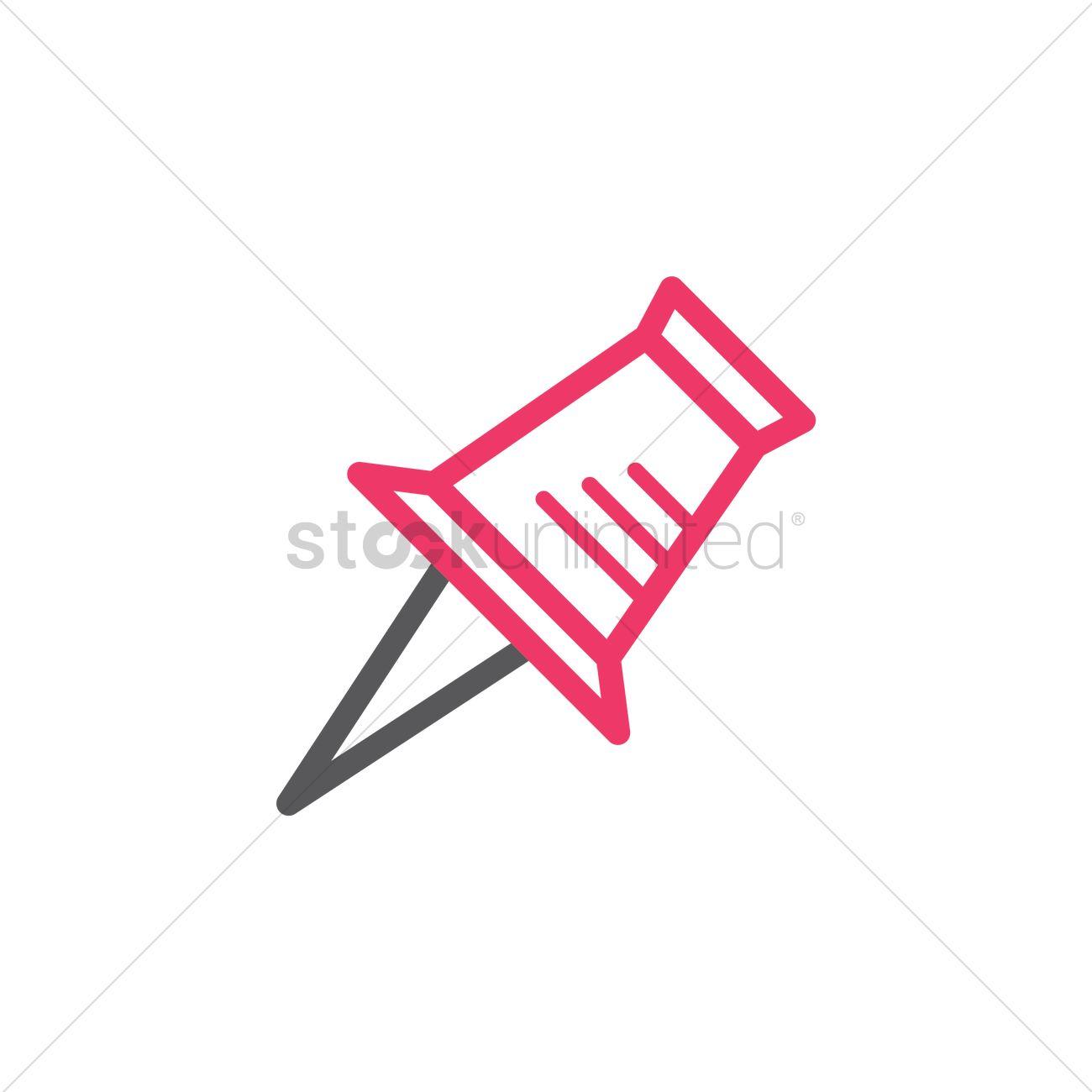Push pin Vector Image - 1816977 | StockUnlimited