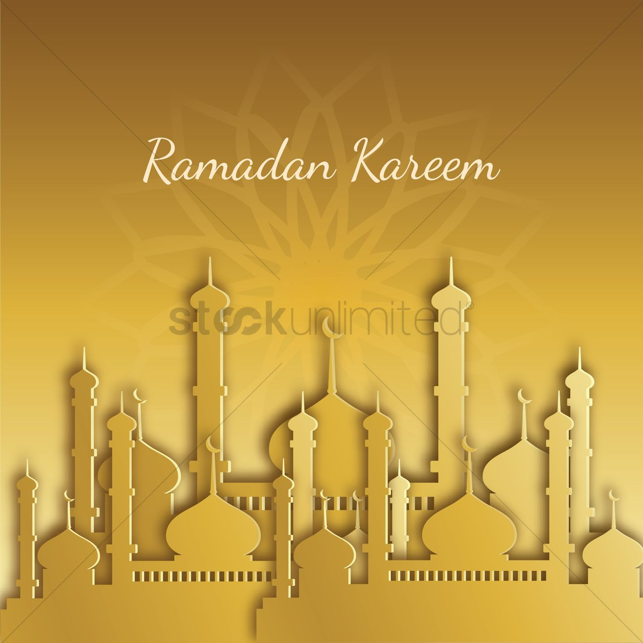Ramadan Kareem Greeting Vector Image 1826937 Stockunlimited