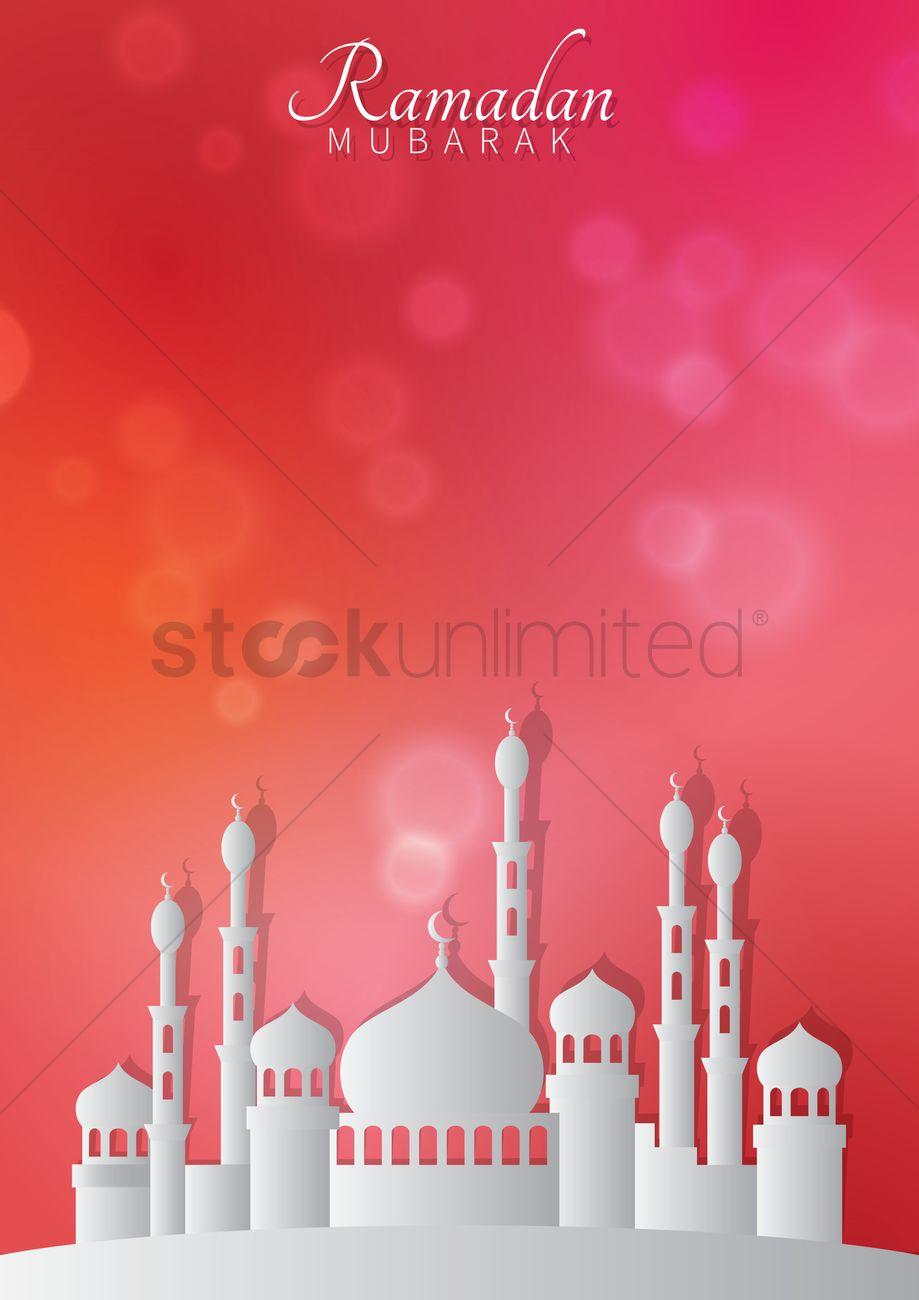 Ramadan Mubarak Greeting Design Vector Image 1989481 Stockunlimited