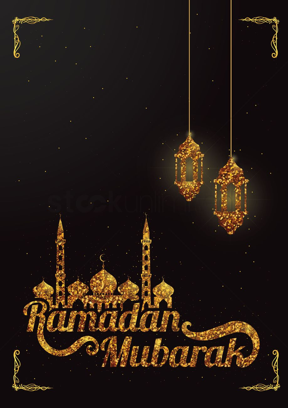 Ramadan Mubarak Greeting Vector Image 1826897 Stockunlimited