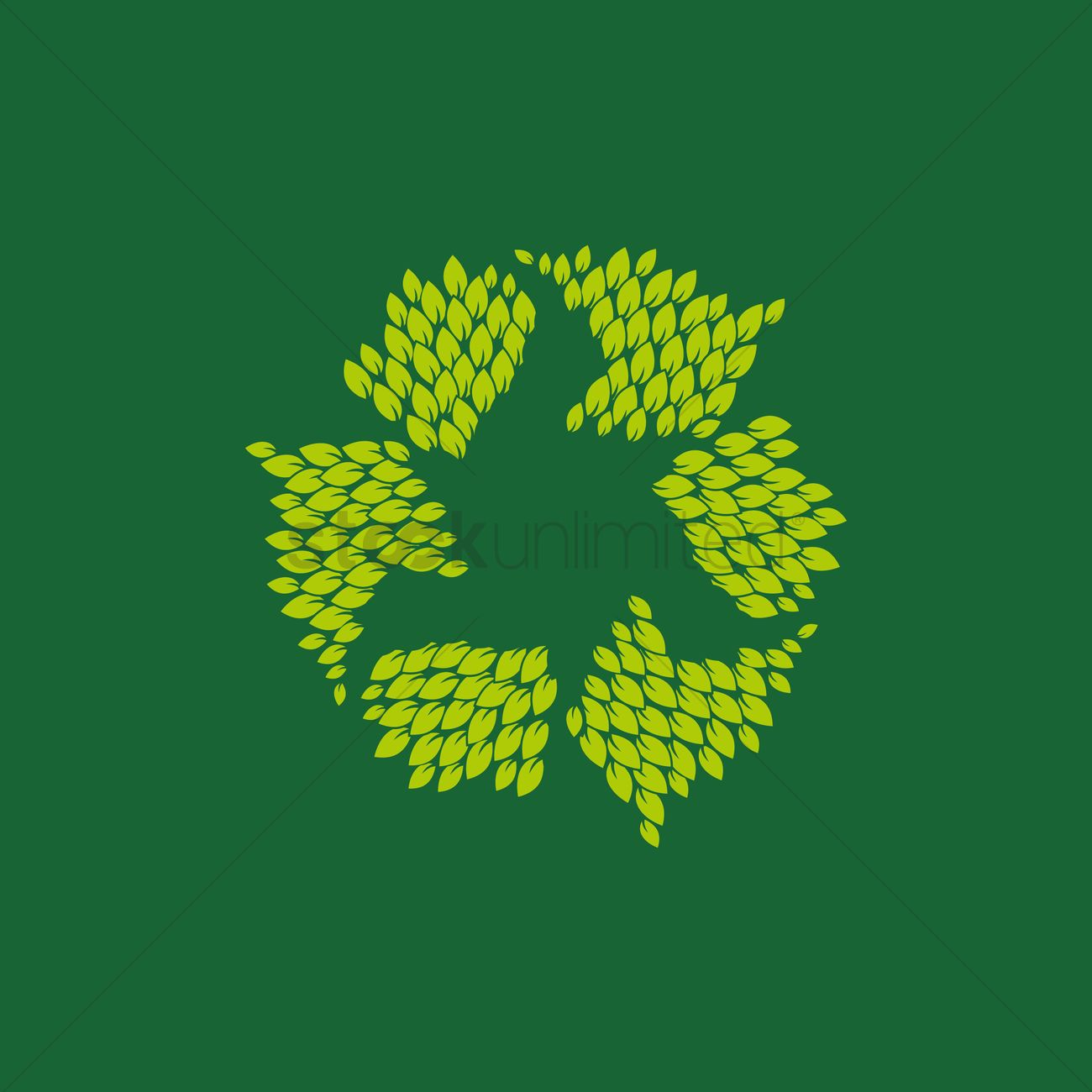 Free Recycle Symbol With Leaves Vector Image 1261177 Stockunlimited