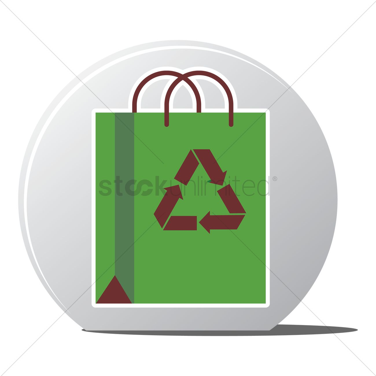 Free Recycling Bag Icon Vector Graphic