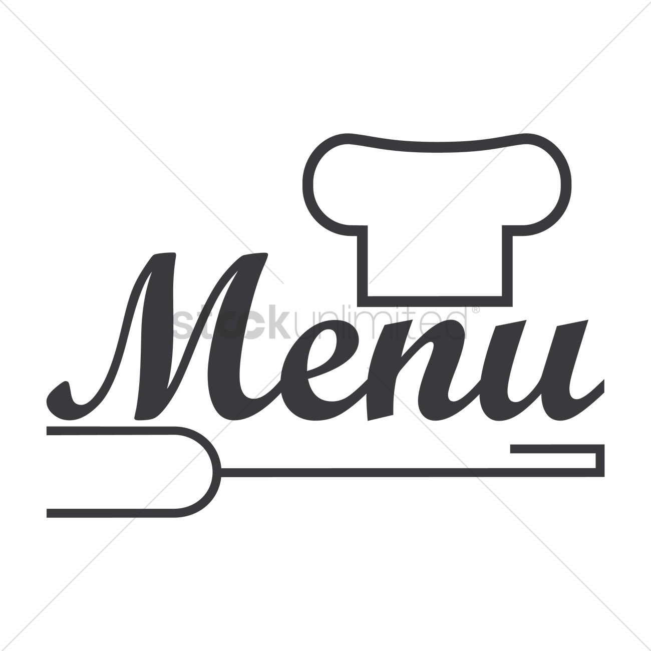 restaurant menu logo icon vector image - 1710145 | stockunlimited