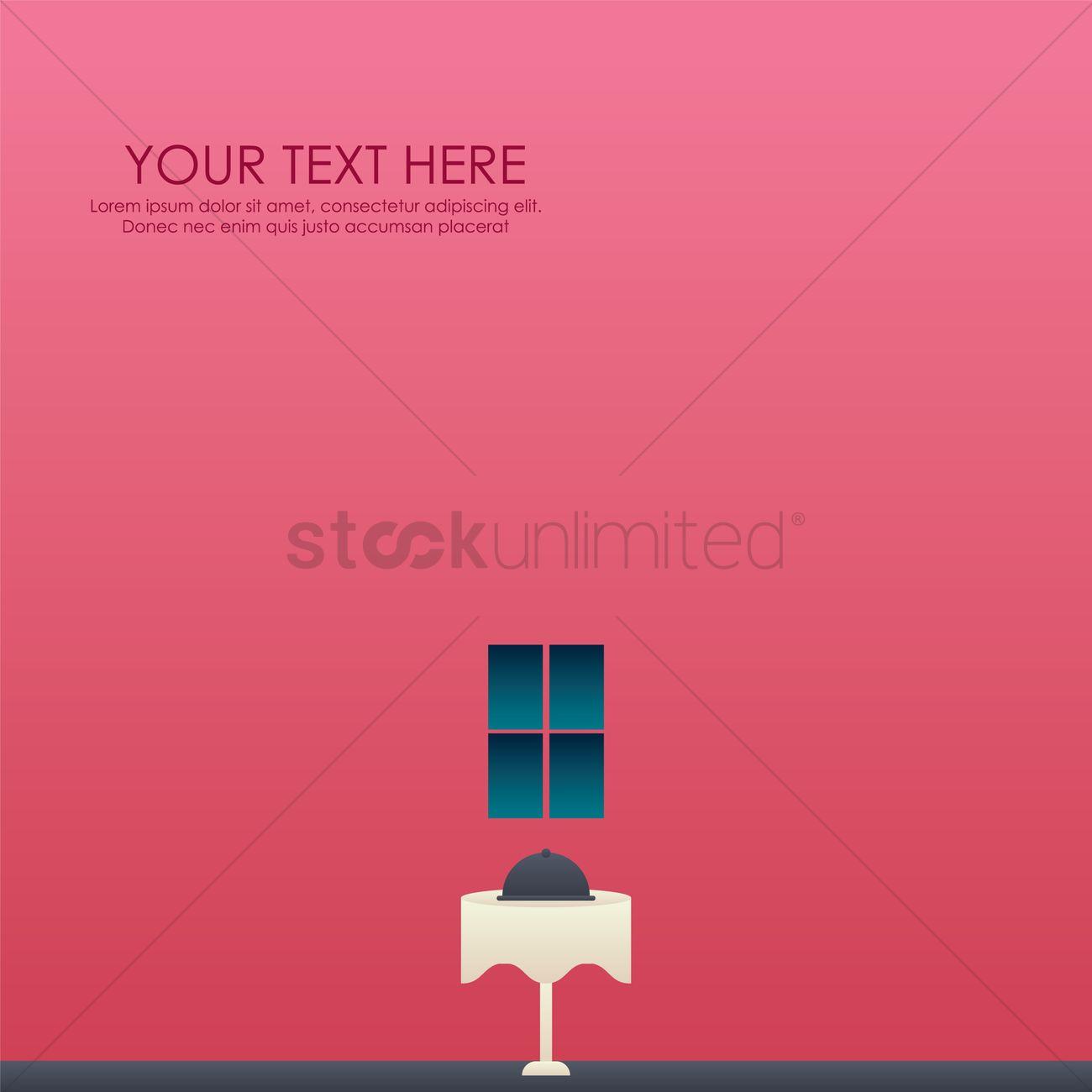 Restaurant Wallpaper Vector Graphic