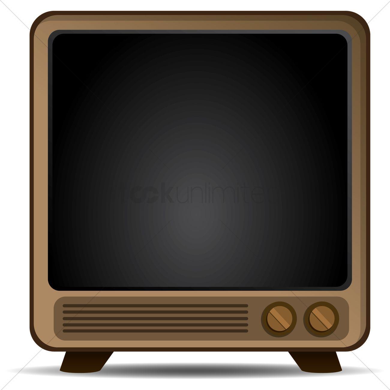 retro television frame vector graphic