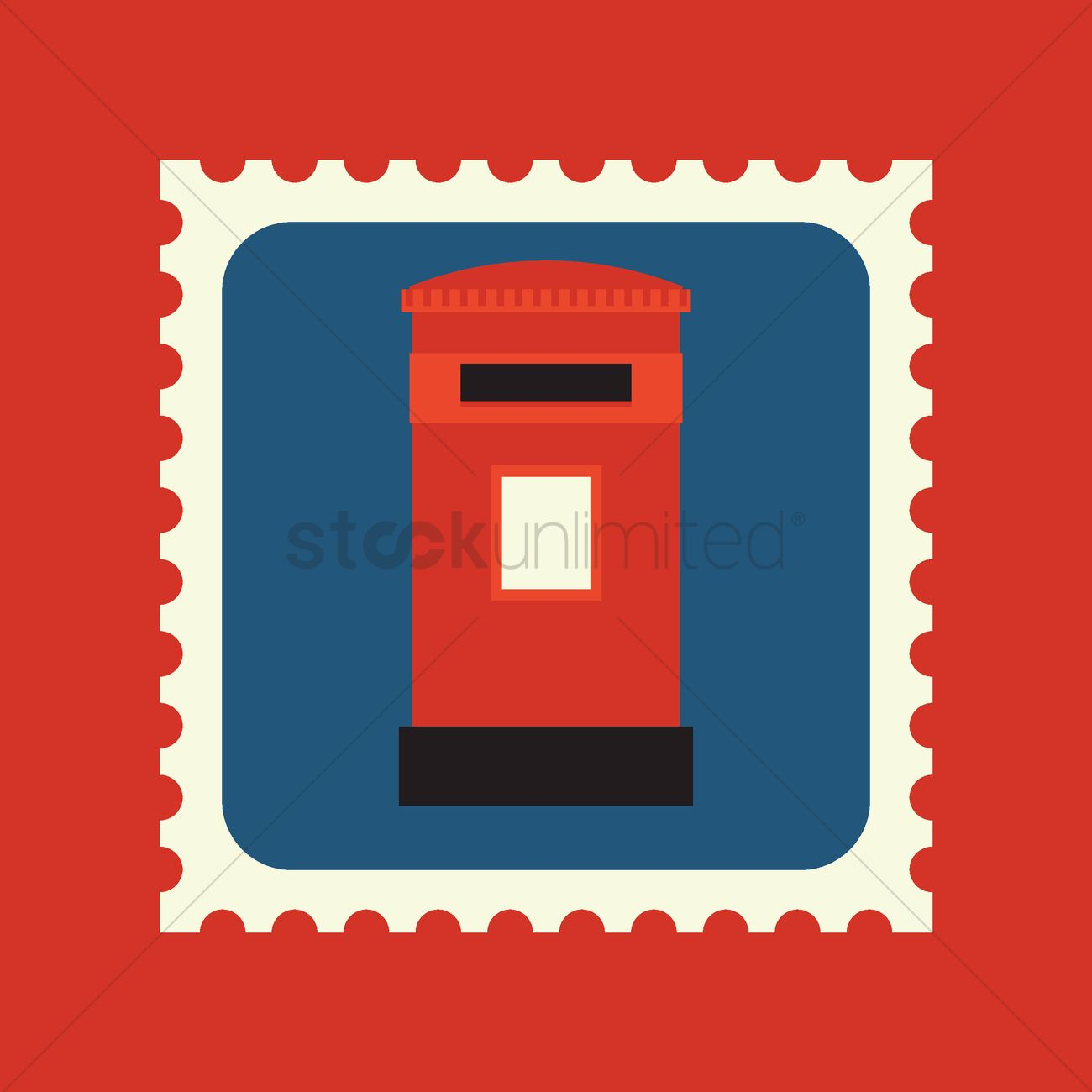 royal mail post box postage stamp ベクタークリップアート - 1574689