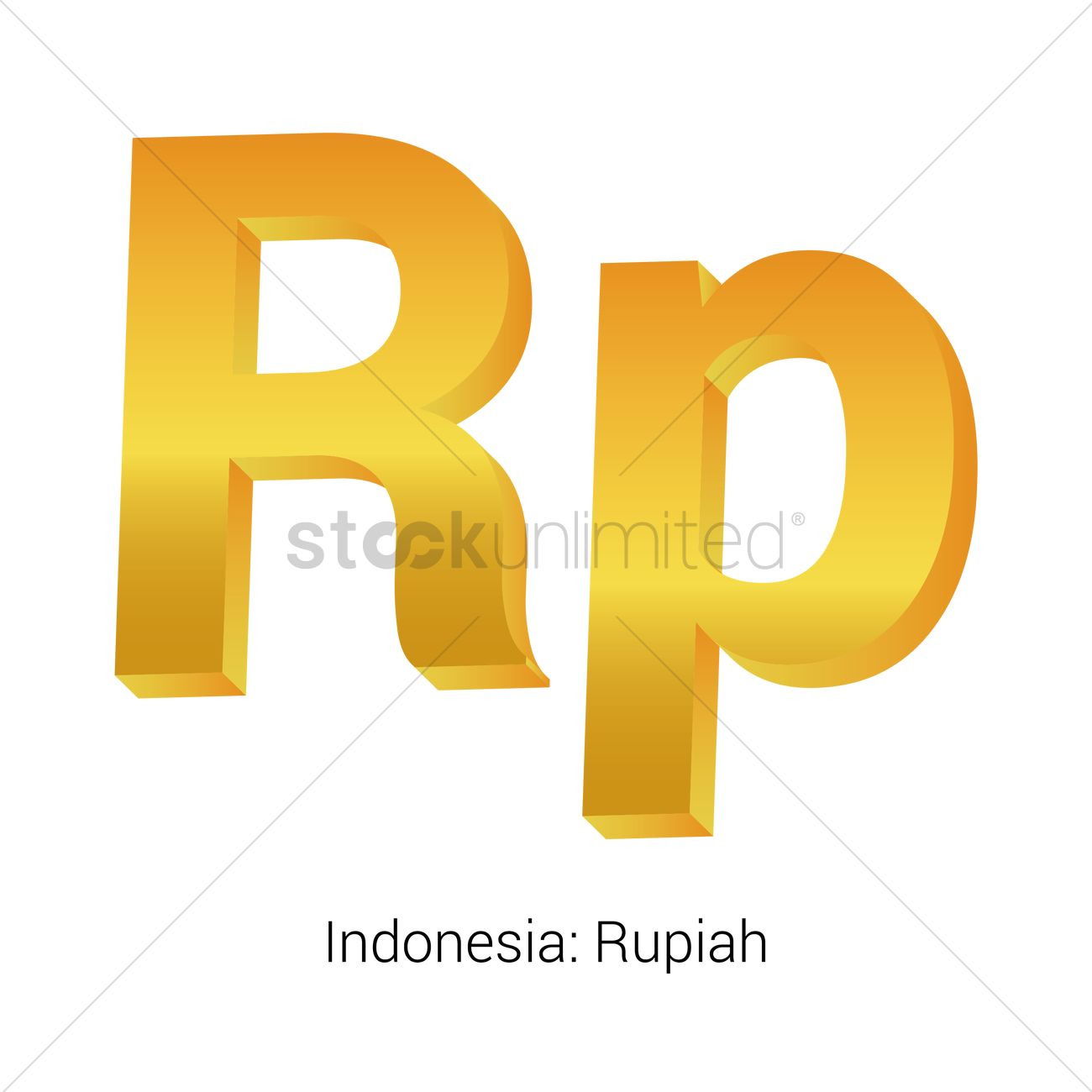 Rupiah Currency Symbol Vector Image 1821561 Stockunlimited