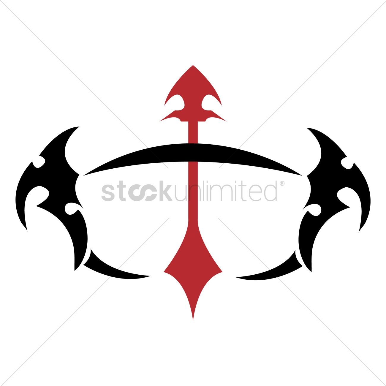 Sagittarius Tattoo Vector Image 1442769 Stockunlimited