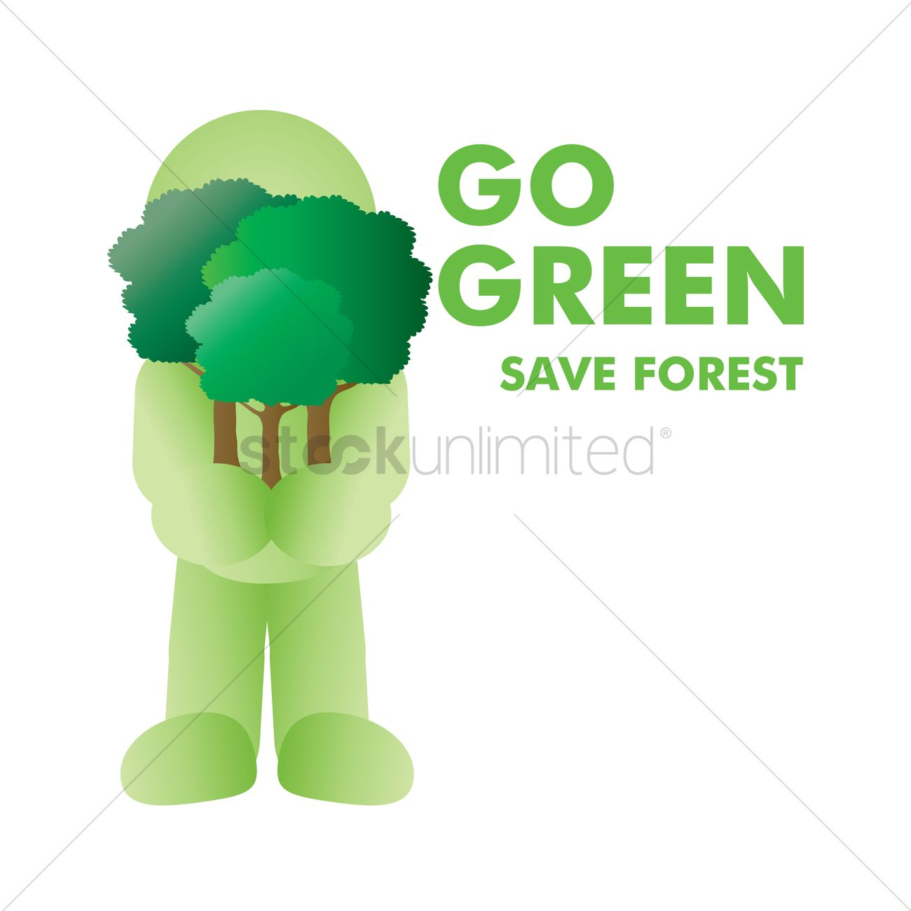 save forest vector image 1271593 stockunlimited