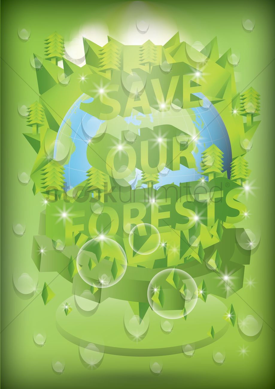 save our forests poster vector image 1622021 stockunlimited