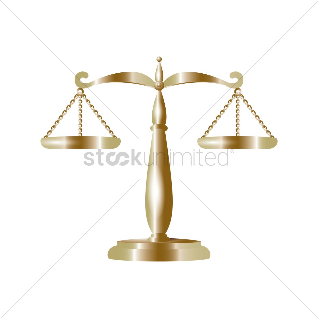 Scales Of Justice Vector Image 1968461 Stockunlimited