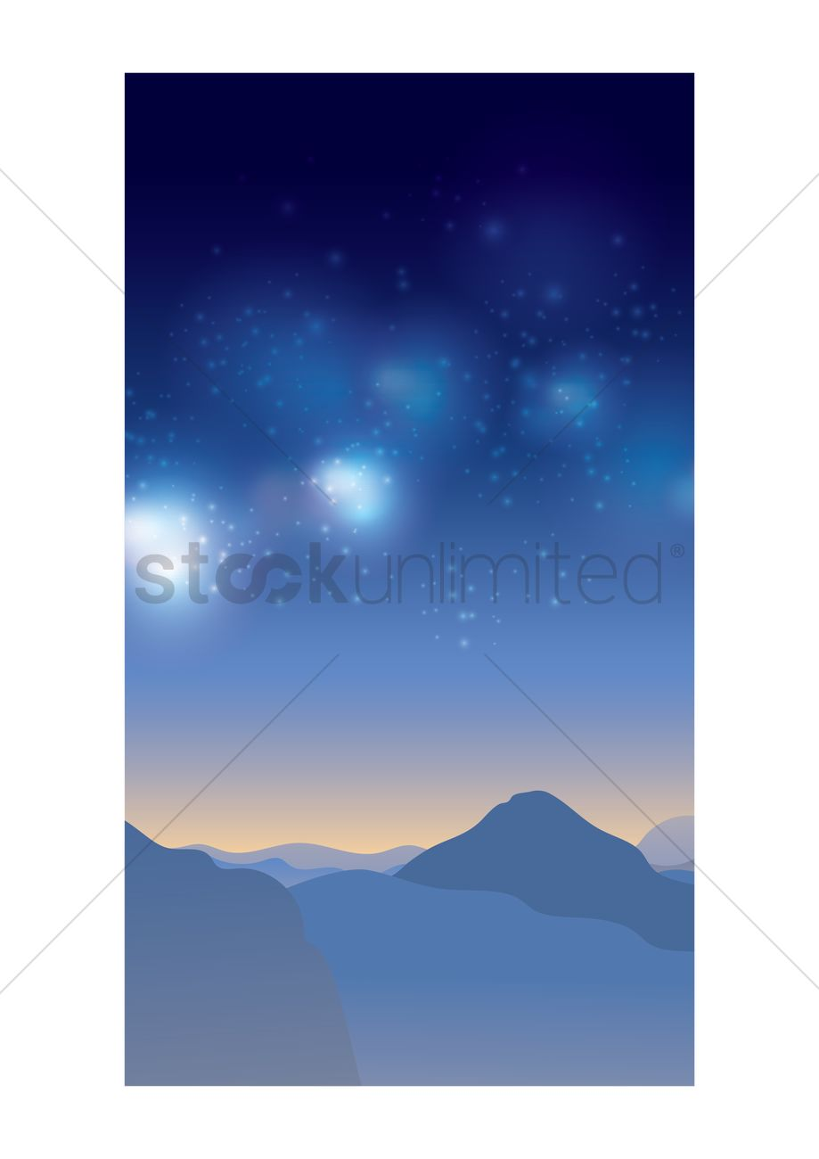Scenic night sky background Vector Image - 1950849