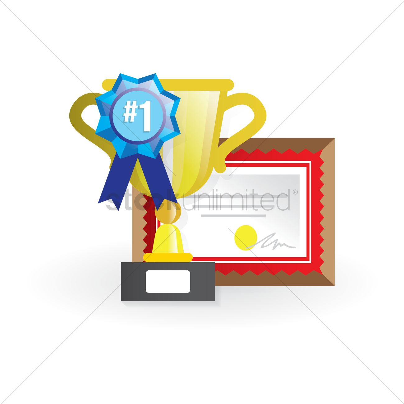 School award trophy and certificate vector image 1411365 school award trophy and certificate vector graphic 1betcityfo Gallery