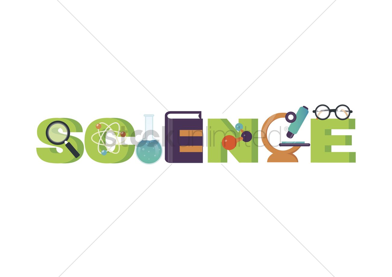 Science lettering design Vector Image - 2008145 ...