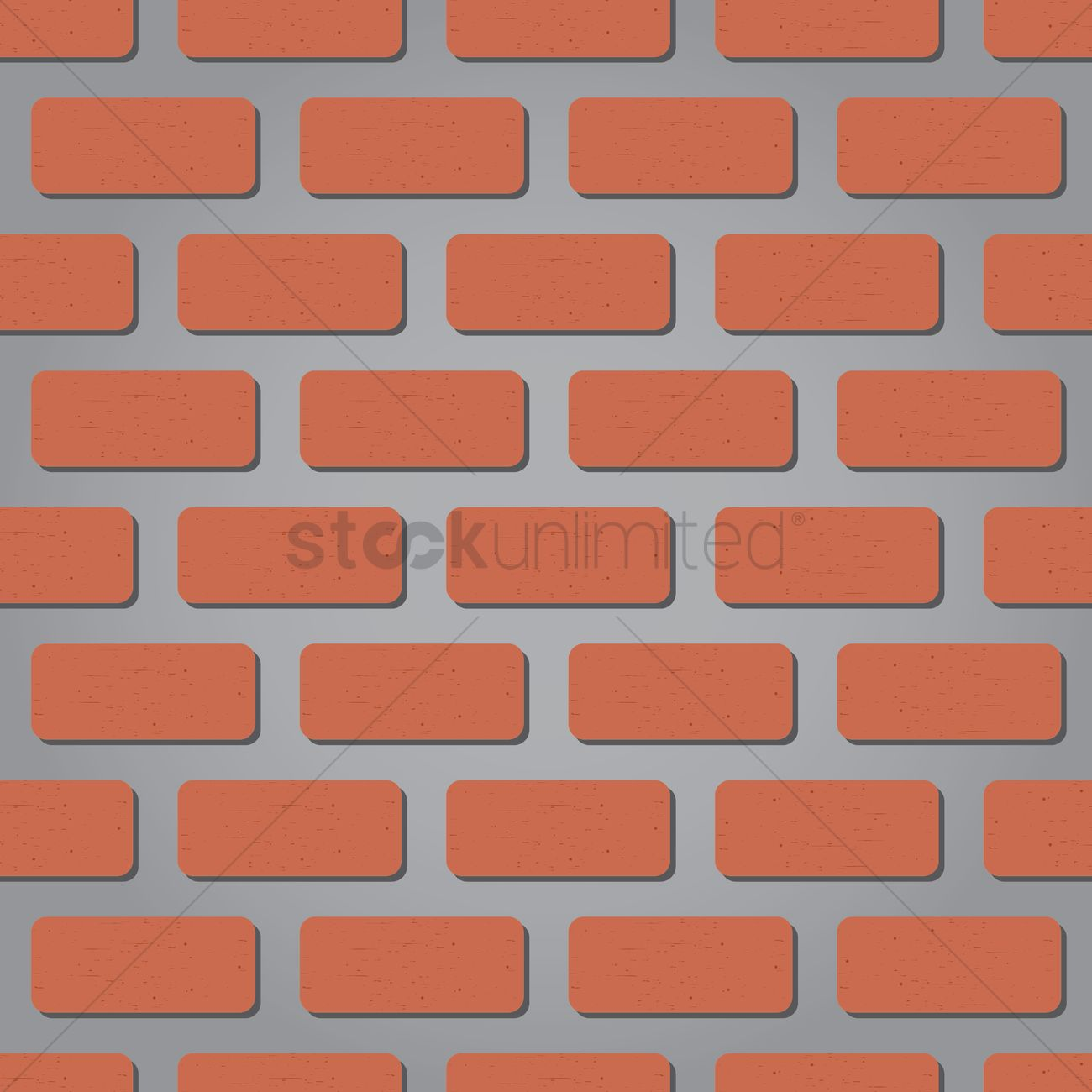 Seamless Brick Texture Background Vector Graphic