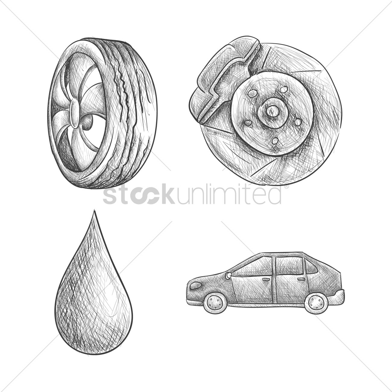 Set of car parts Vector Image - 1636025 | StockUnlimited