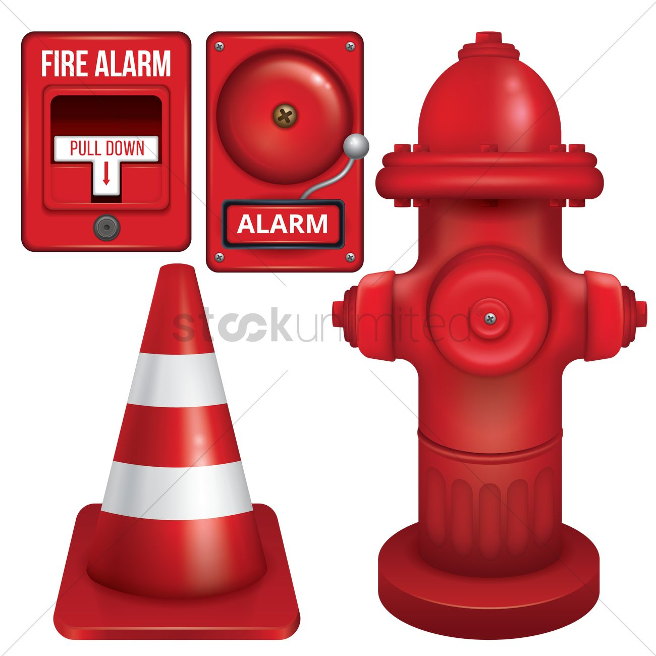 Set Of Fire Station Icons Vector Image 1799485 Stockunlimited