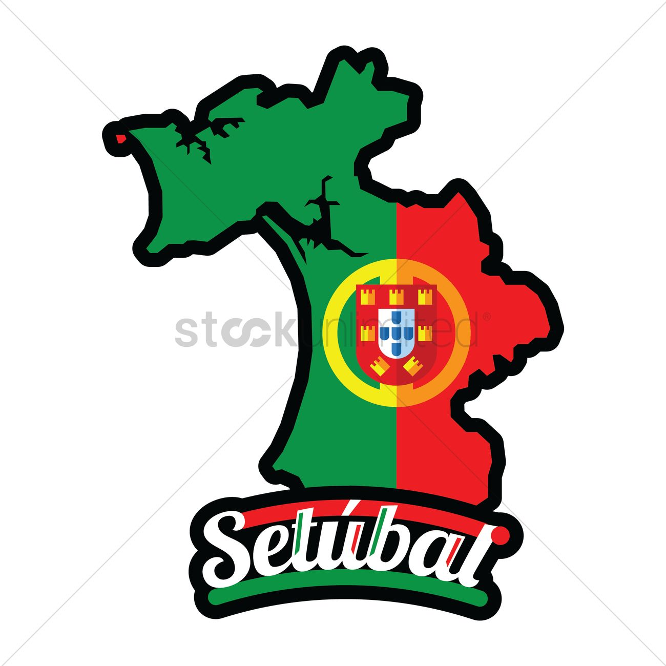 Setubal map Vector Image 1582665 StockUnlimited
