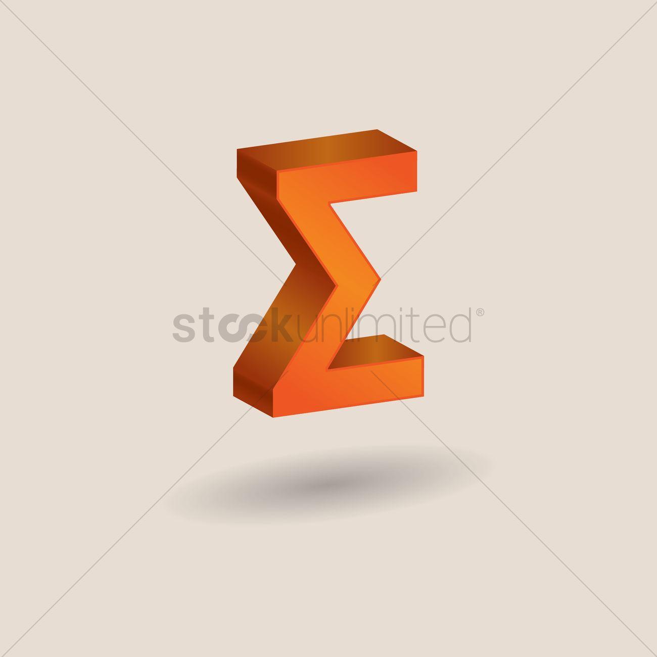 Sigma Symbol Vector Image 1608237 Stockunlimited