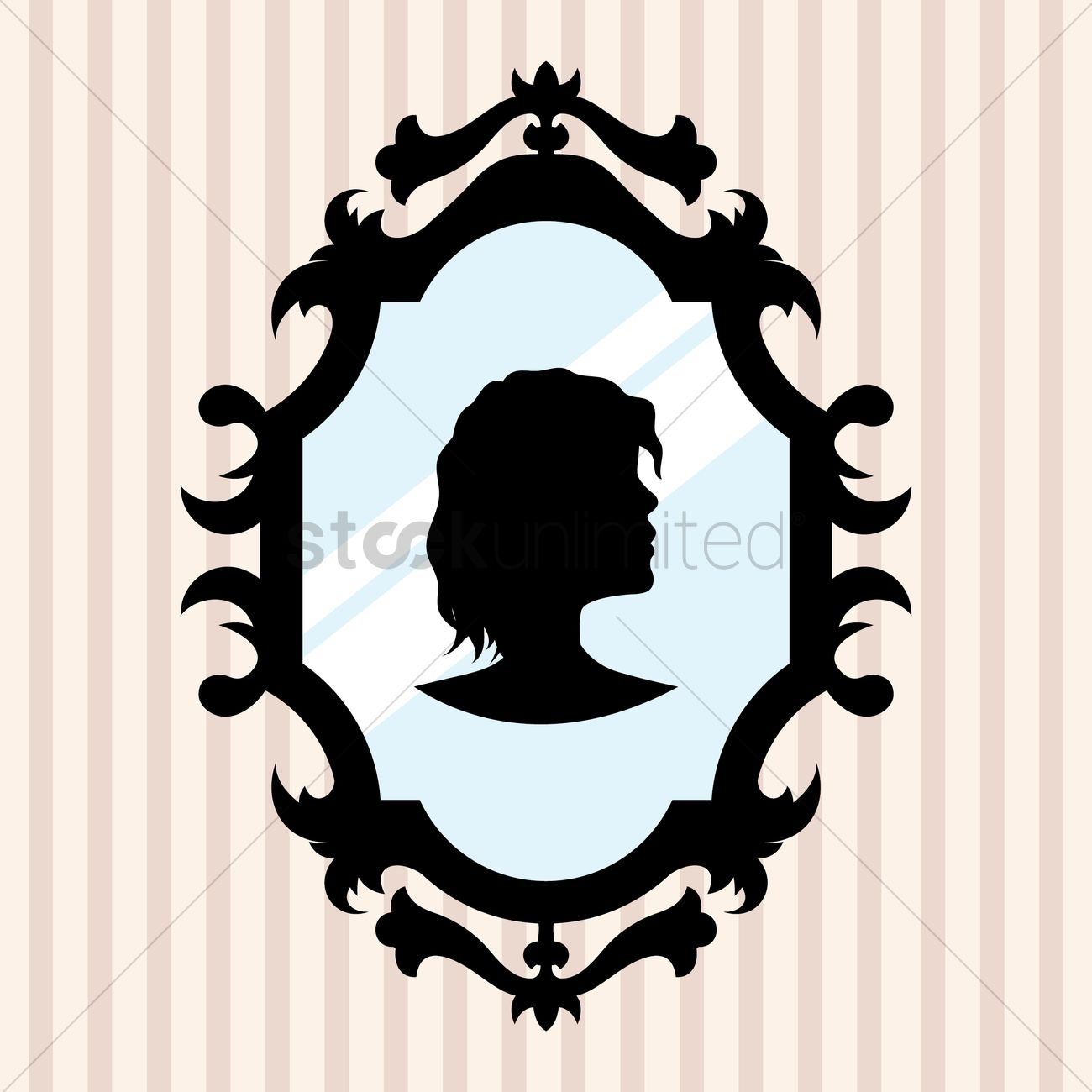 Mirror frame vector Antique Mirror Silhouette In Mirror Frame Vector Graphic Stockunlimited Silhouette In Mirror Frame Vector Image 1480213 Stockunlimited