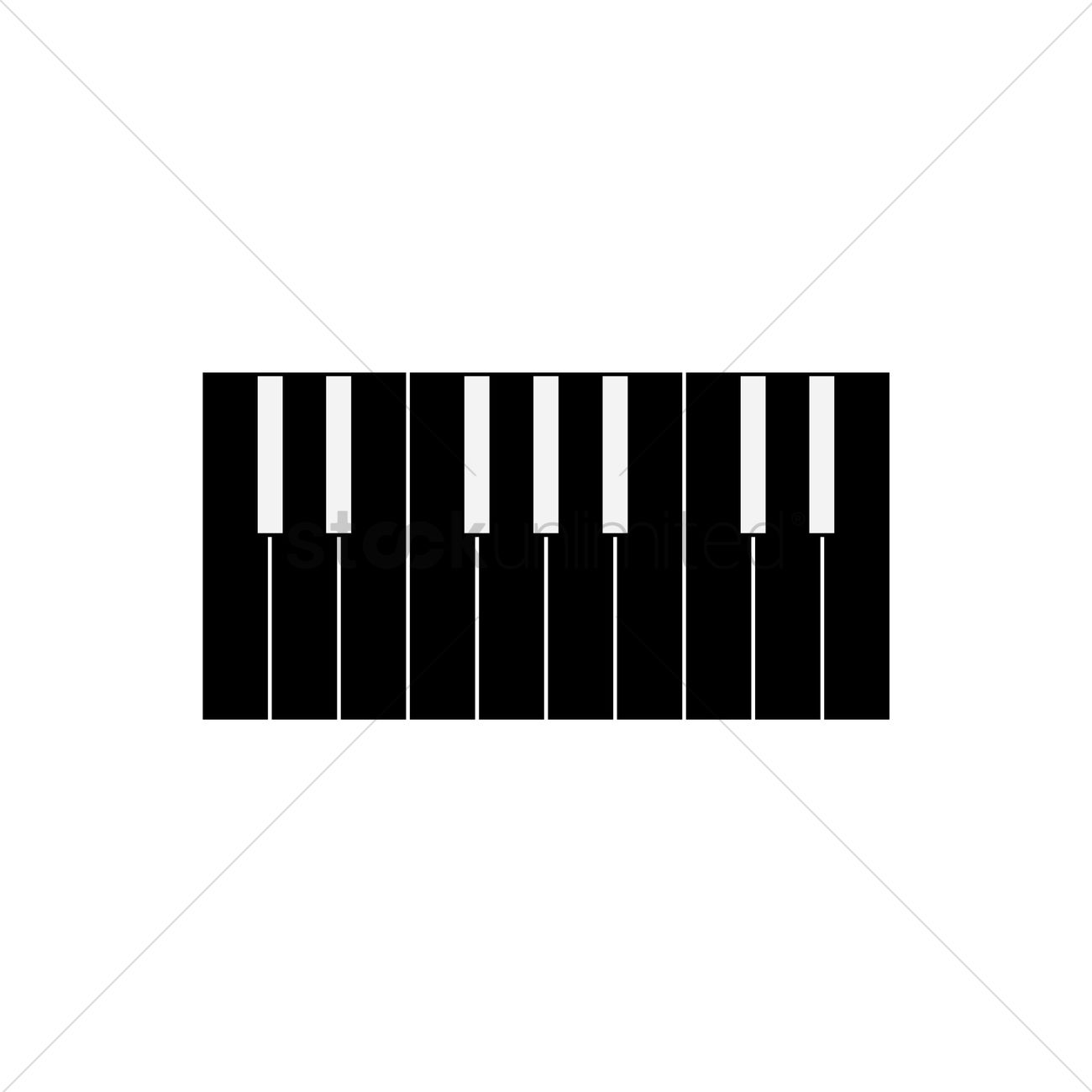 Free Silhouette of piano keys Vector Image - 1461613