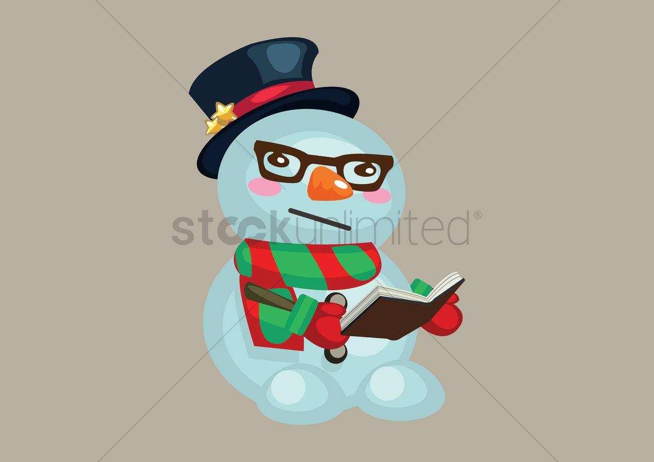 Worksheet Snowman Reading snowman reading a book vector image 1333625 stockunlimited graphic