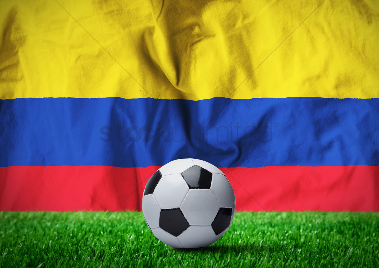 soccer ball with colombian flag stock photo 2089337 stockunlimited