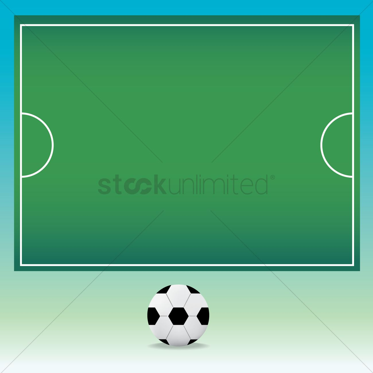 soccer field template vector image 1538253 stockunlimited