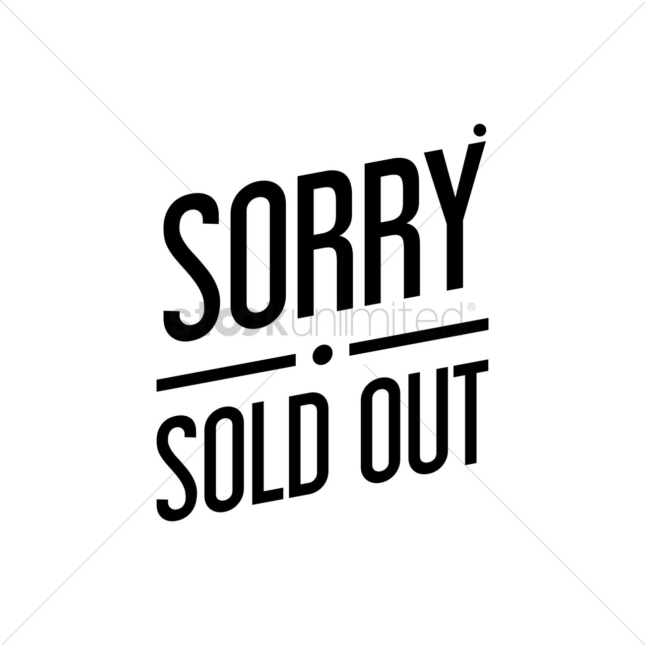 sorry sold out text vector image 1520933 stockunlimited rh stockunlimited com sony logon sony logon
