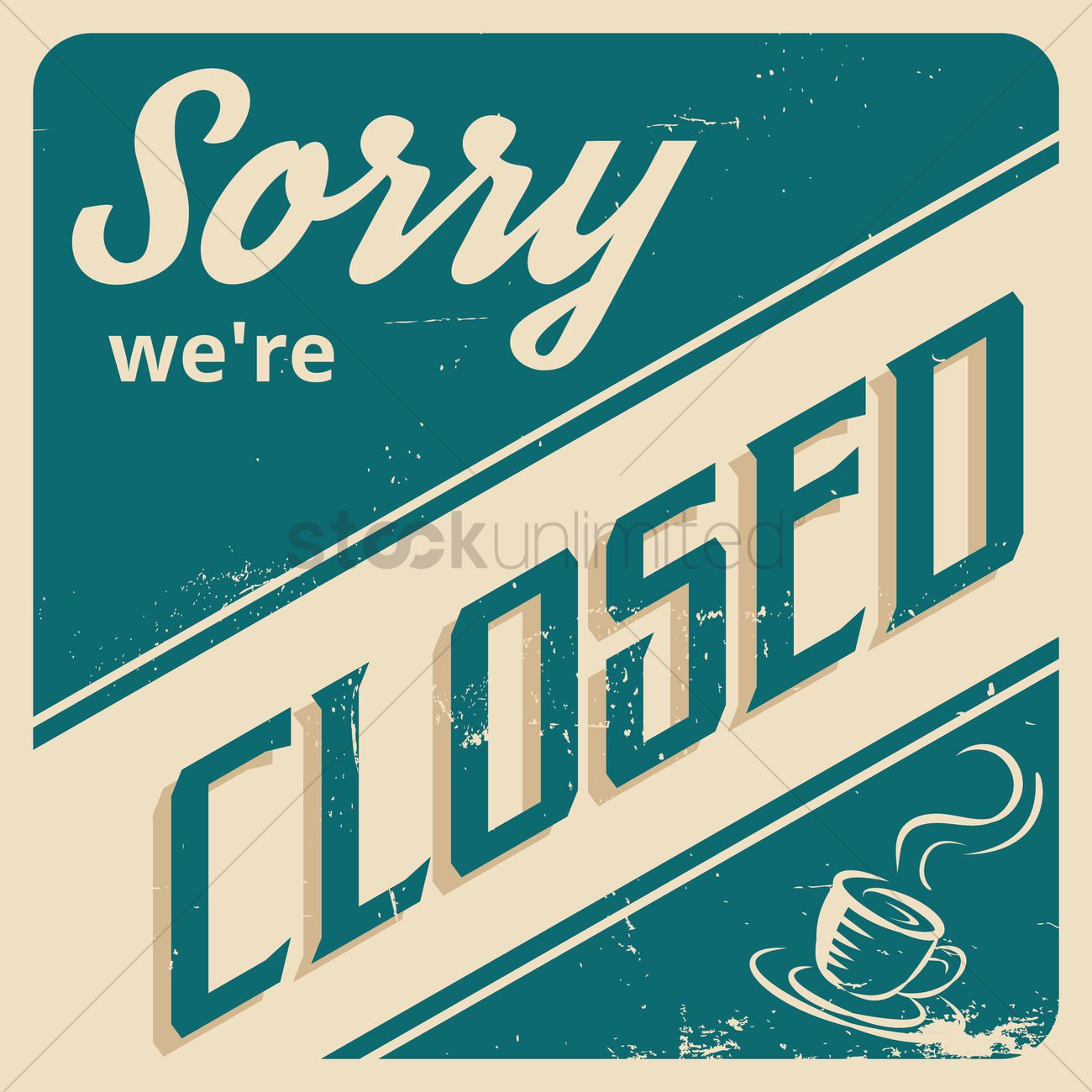 Sorry We're Closed Wallpaper Vector Image