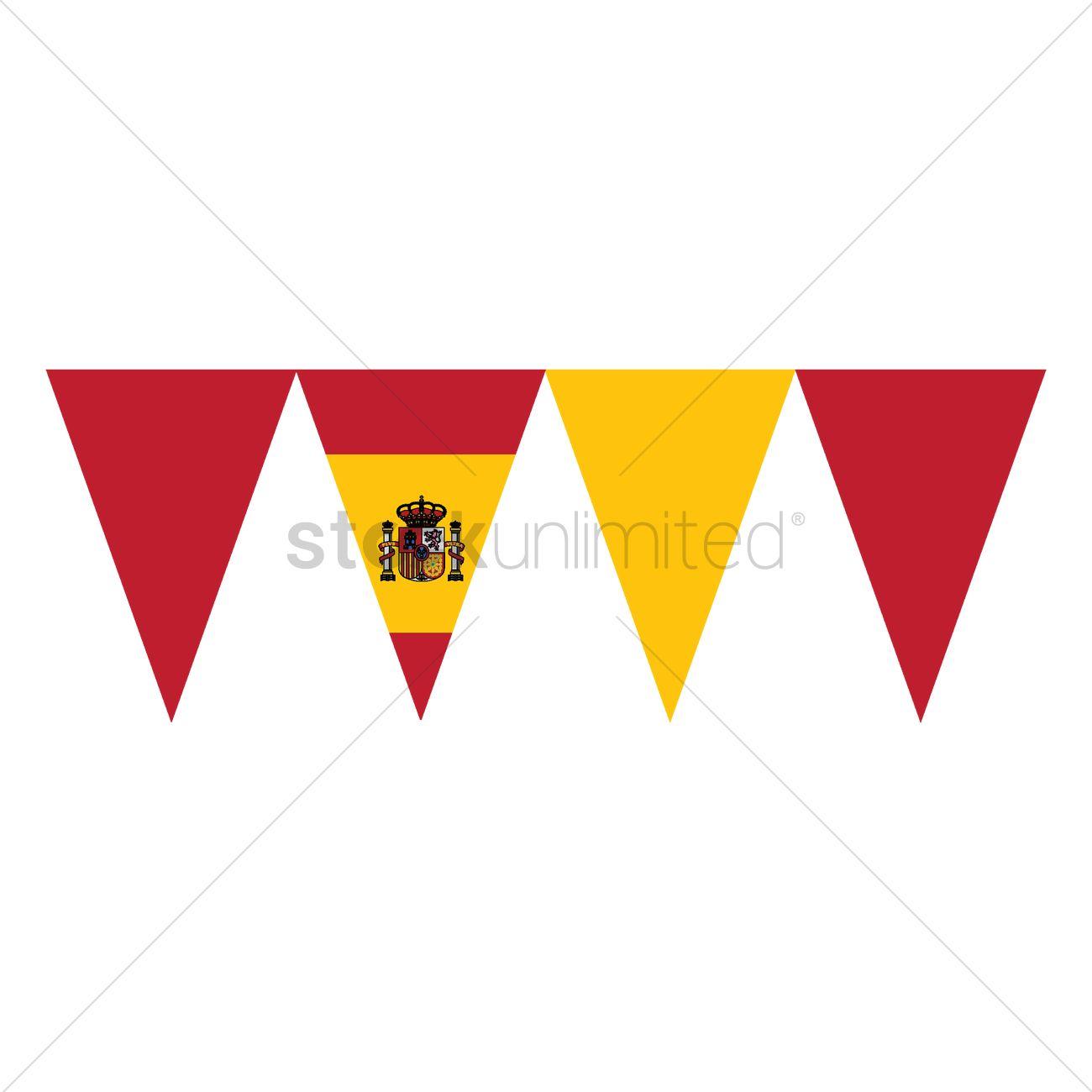 spain flag buntings vector image 1565301 stockunlimited