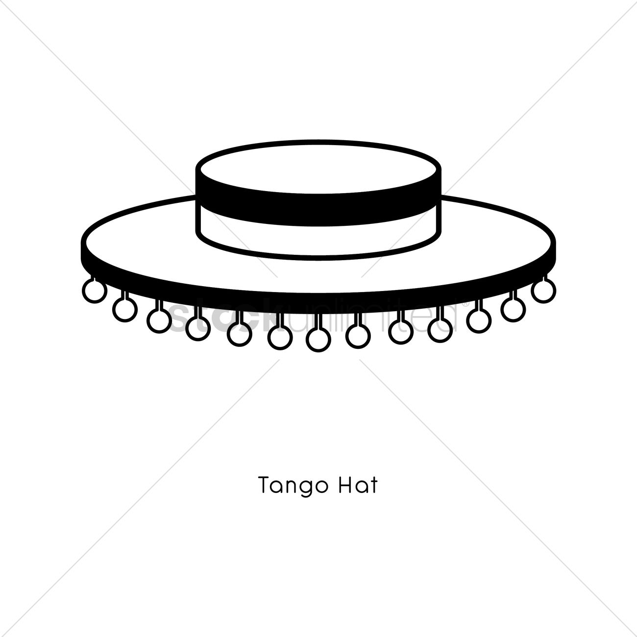Spanish folkloric hat Vector Image - 1570513   StockUnlimited