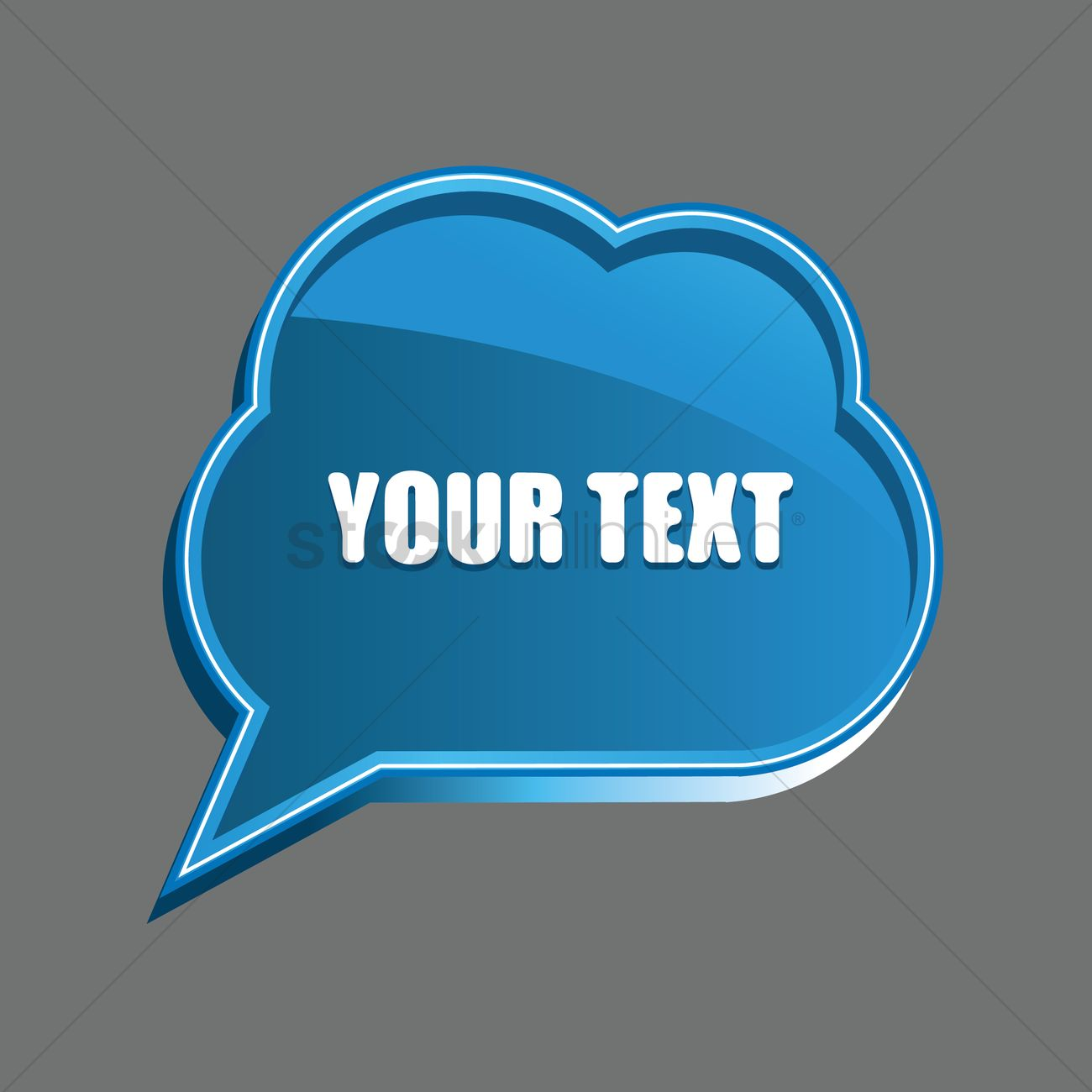 speech bubble template design vector image 1454361 stockunlimited