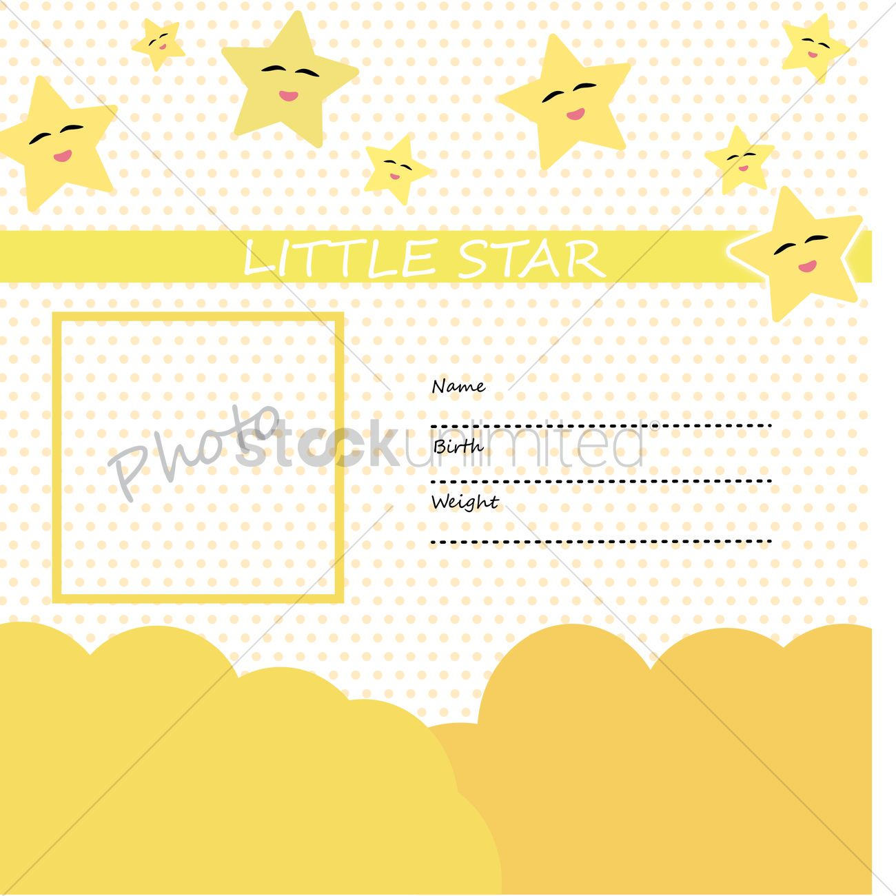 Stars and polka dot template Vector Image - 1483009 | StockUnlimited