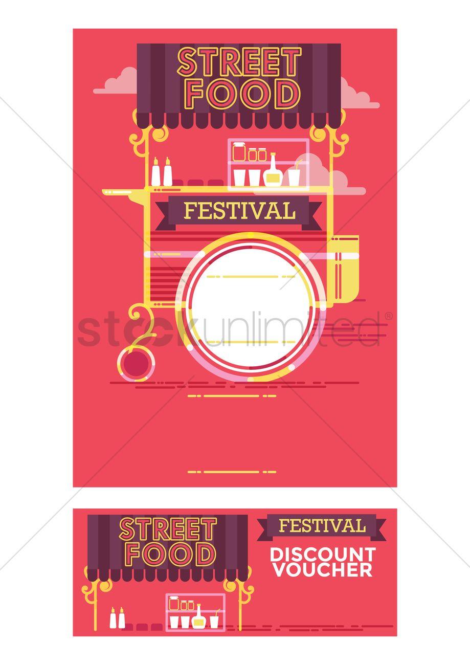 Street Food Festival Poster Design Vector Graphic