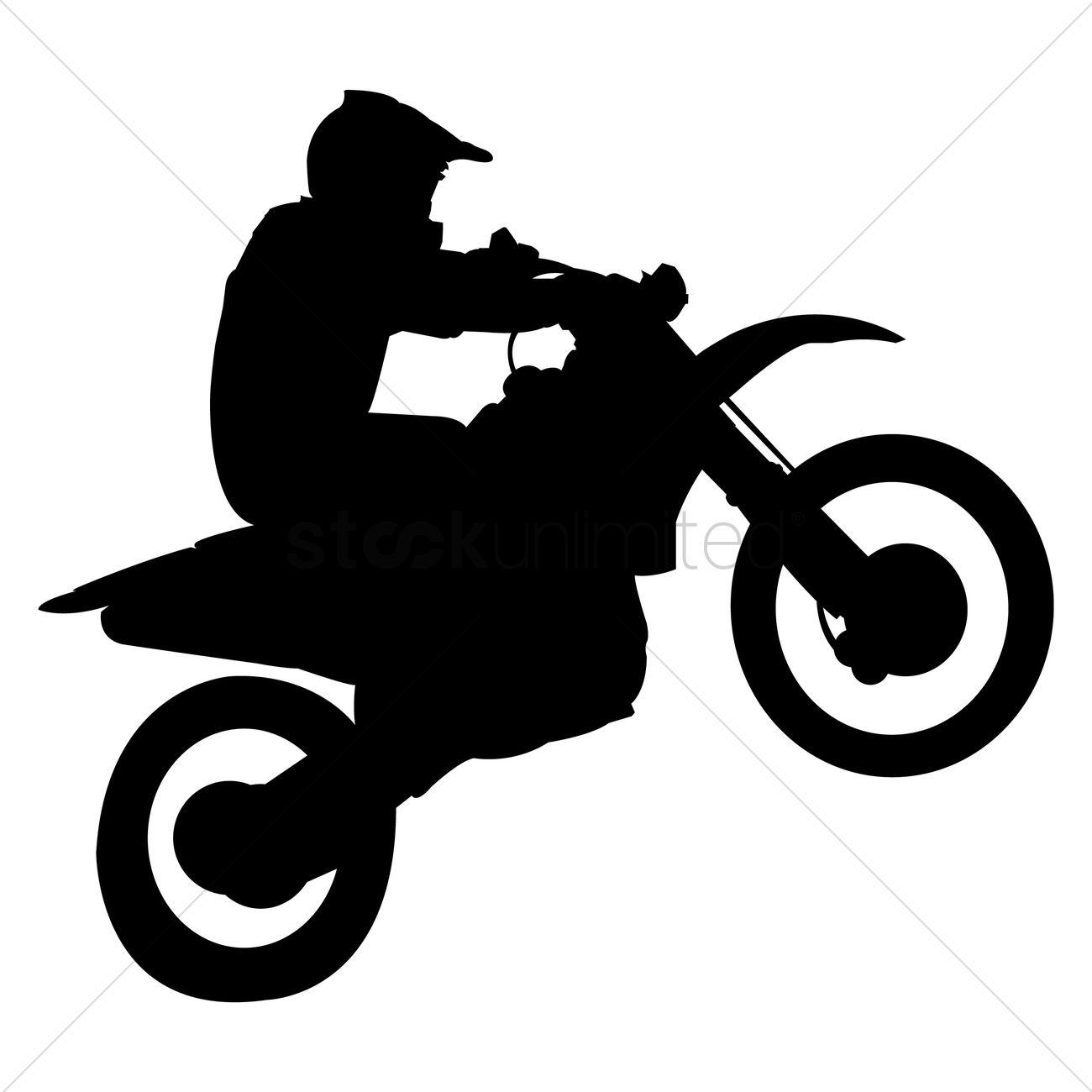 stuntman on motorbike vector image 1822433 stockunlimited dirt bike clipart black and white dirt bike clip art word
