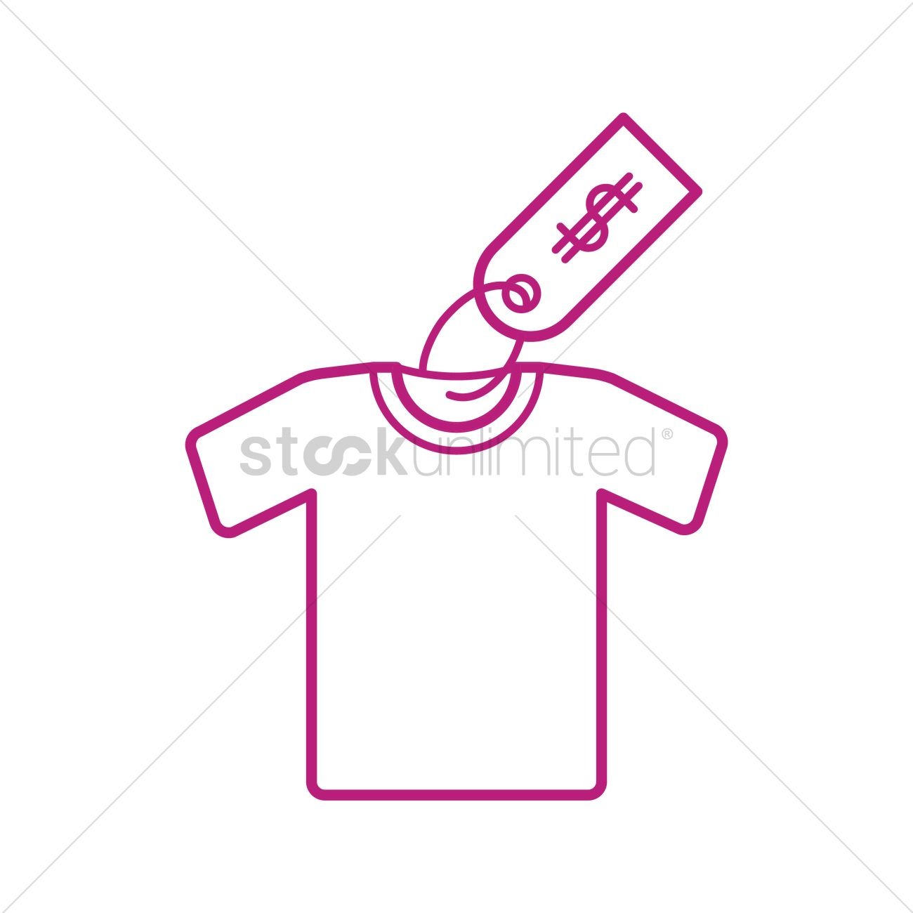 T-shirt with price tag Vector Image - 1591405 | StockUnlimited
