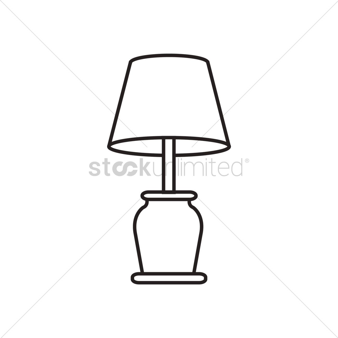 Table lamp Vector Image - 1465673 | StockUnlimited for Clipart Lamp Black And White  575lpg