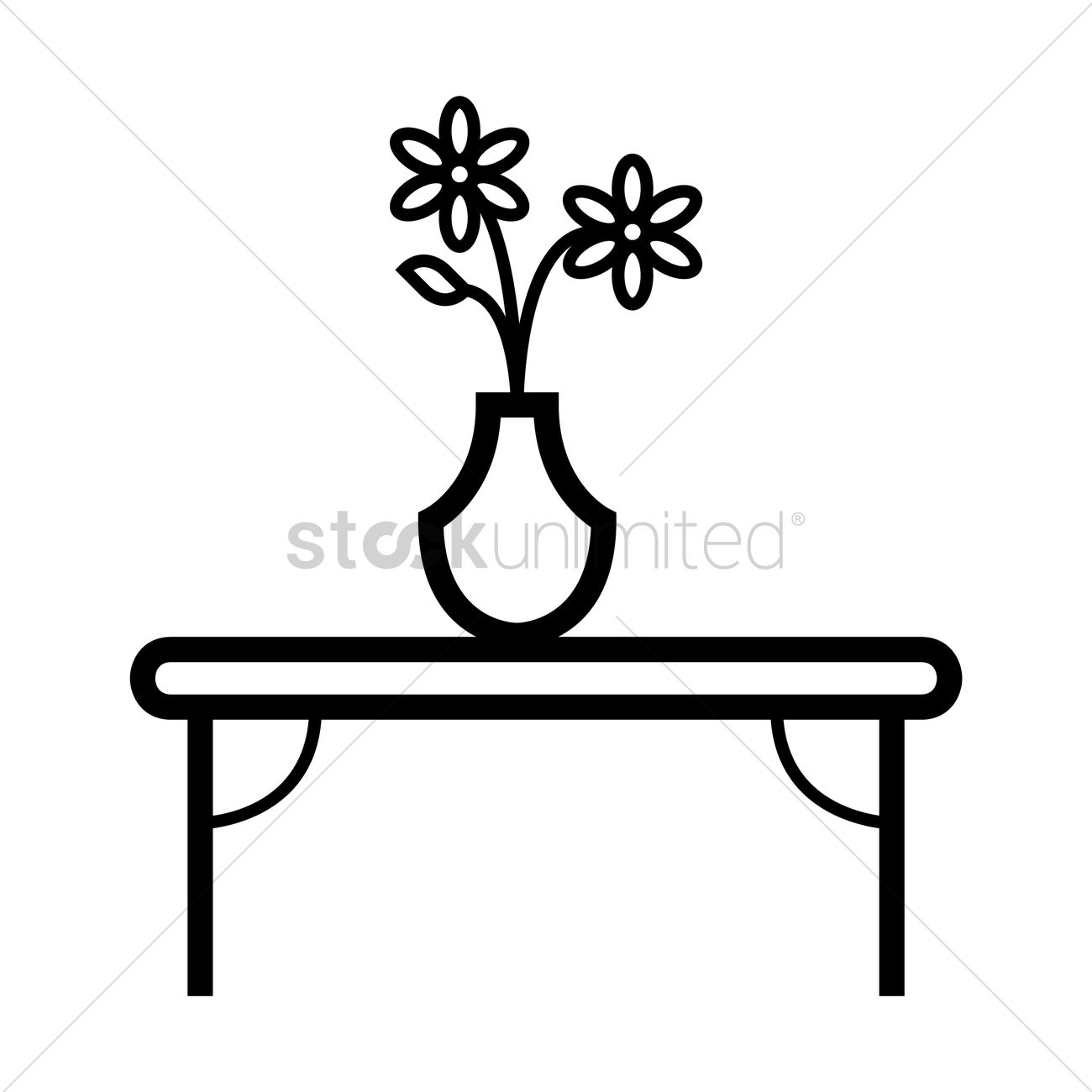 Vase Of Flowers Clipart Black And White Flowers Healthy