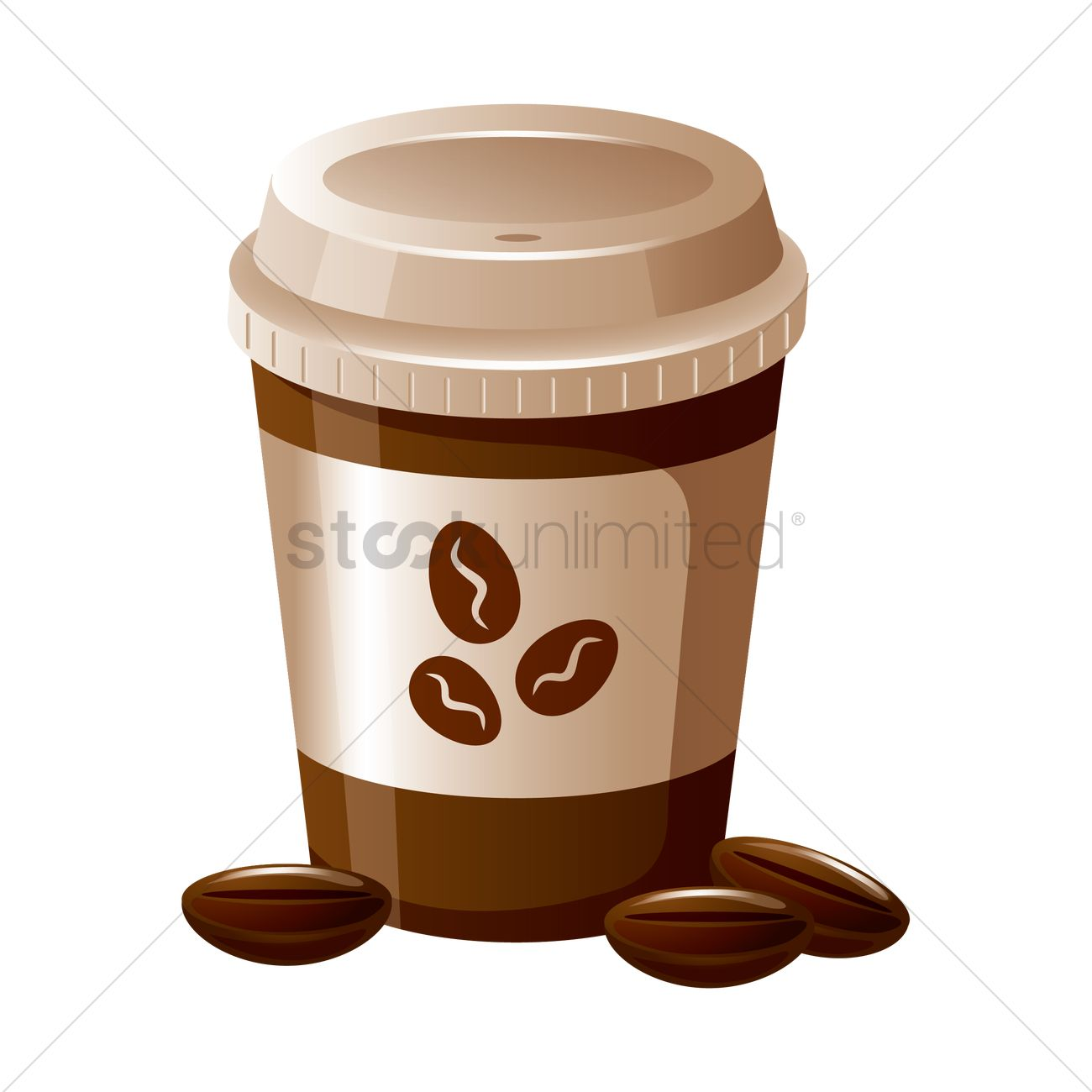 Coffee cup vector free - Takeaway Coffee Cup Vector Graphic