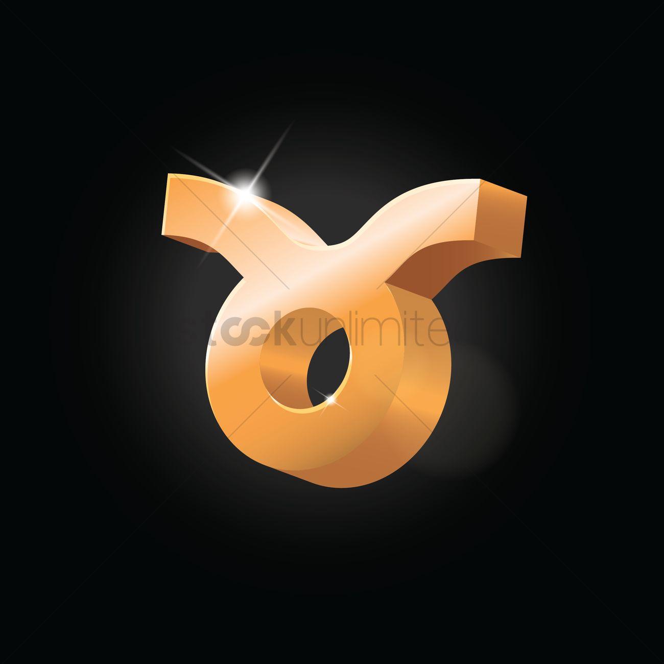 Taurus Zodiac Symbol Vector Image 1606273 Stockunlimited