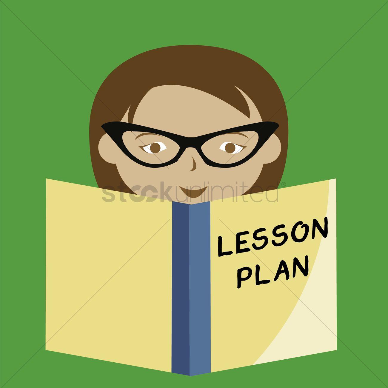 Teacher Lesson Plan Vector Graphic