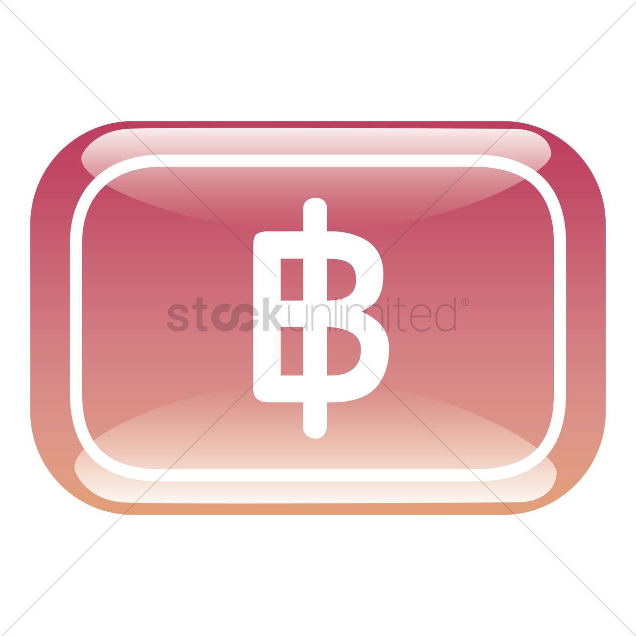 Thailand Baht Currency Symbol Vector Image 1306065 Stockunlimited