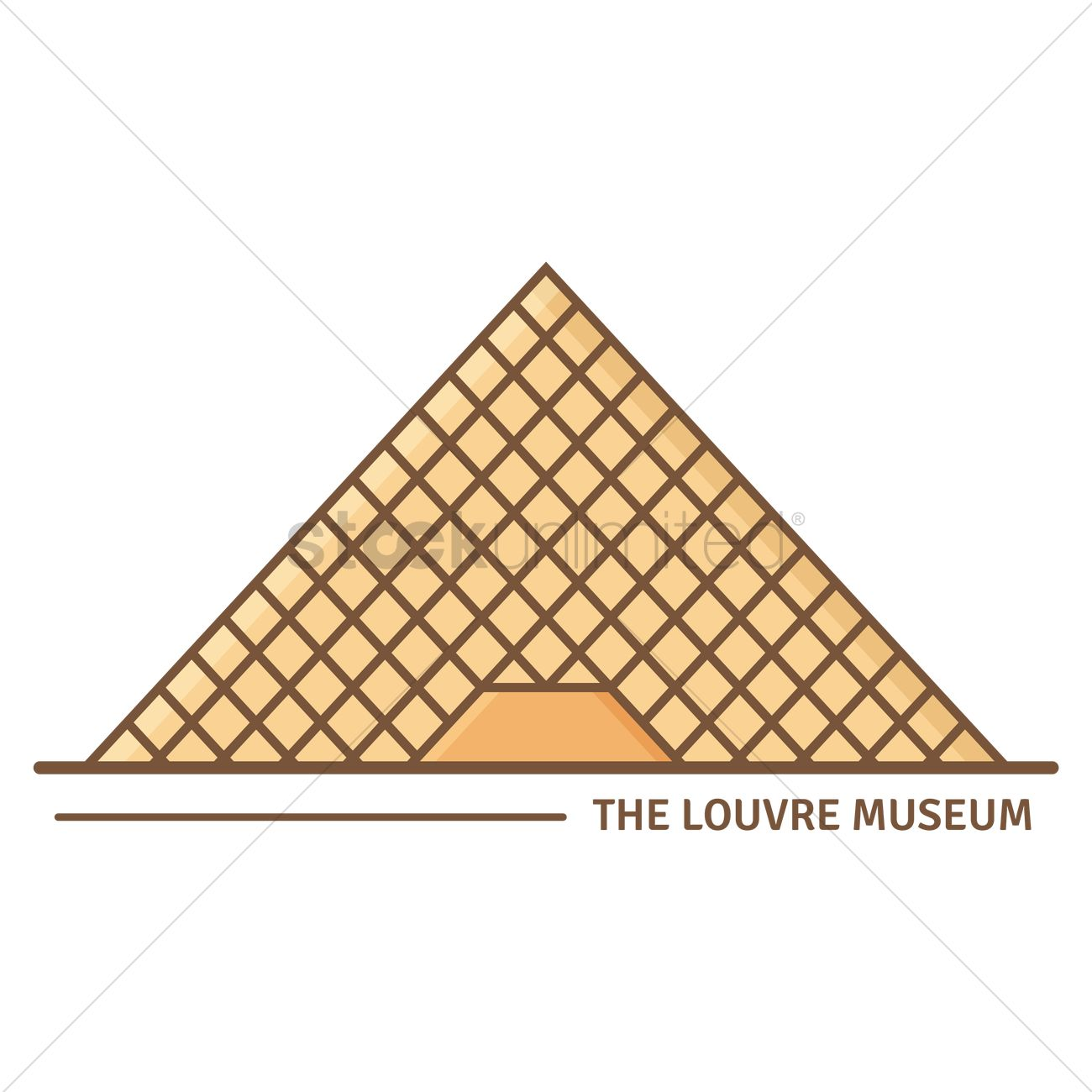 the louvre museum vector image 1570373 stockunlimited rh stockunlimited com louvre pyramid clip art Mona Lisa Clip Art