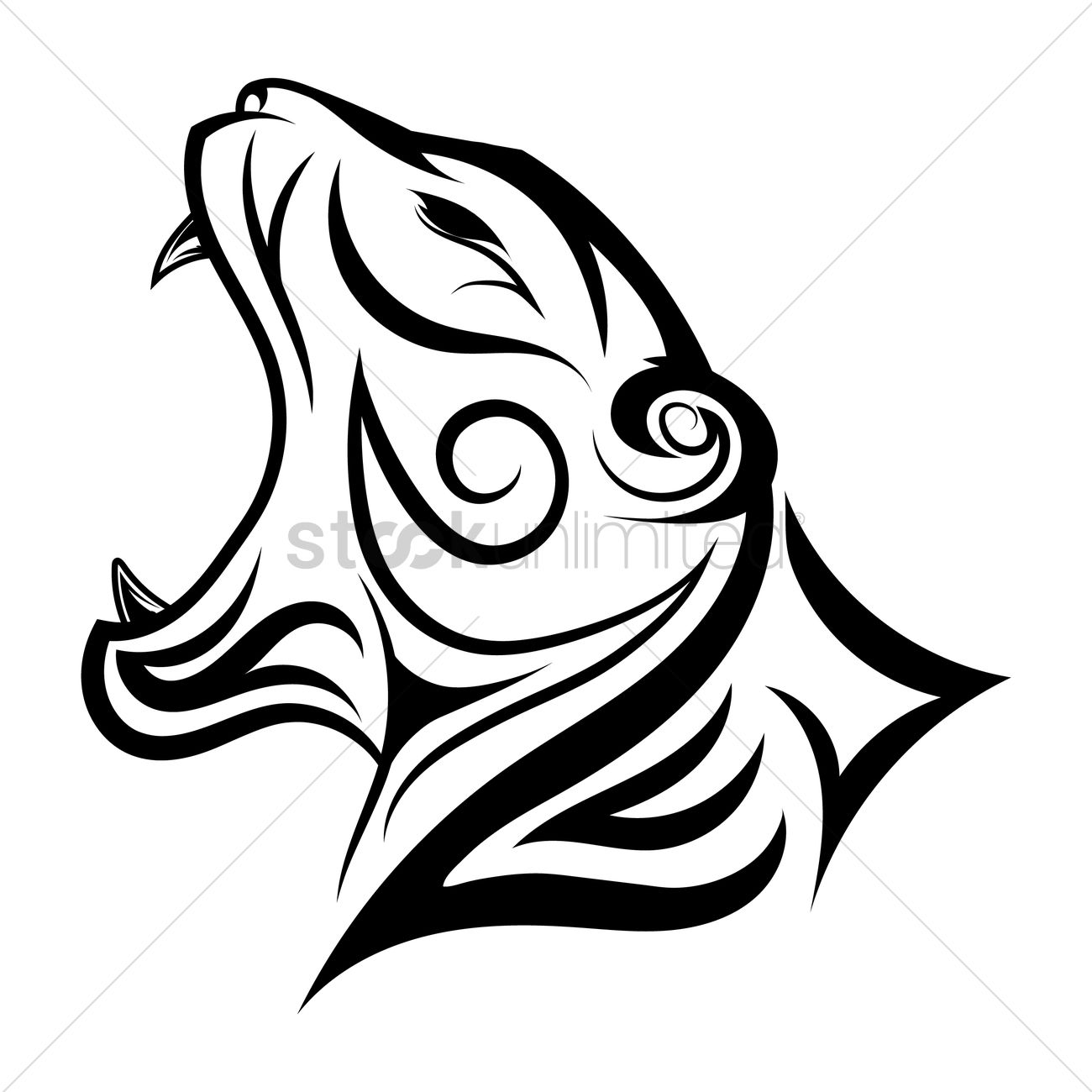 Tiger face tattoo Vector Image - 1457481 | StockUnlimited