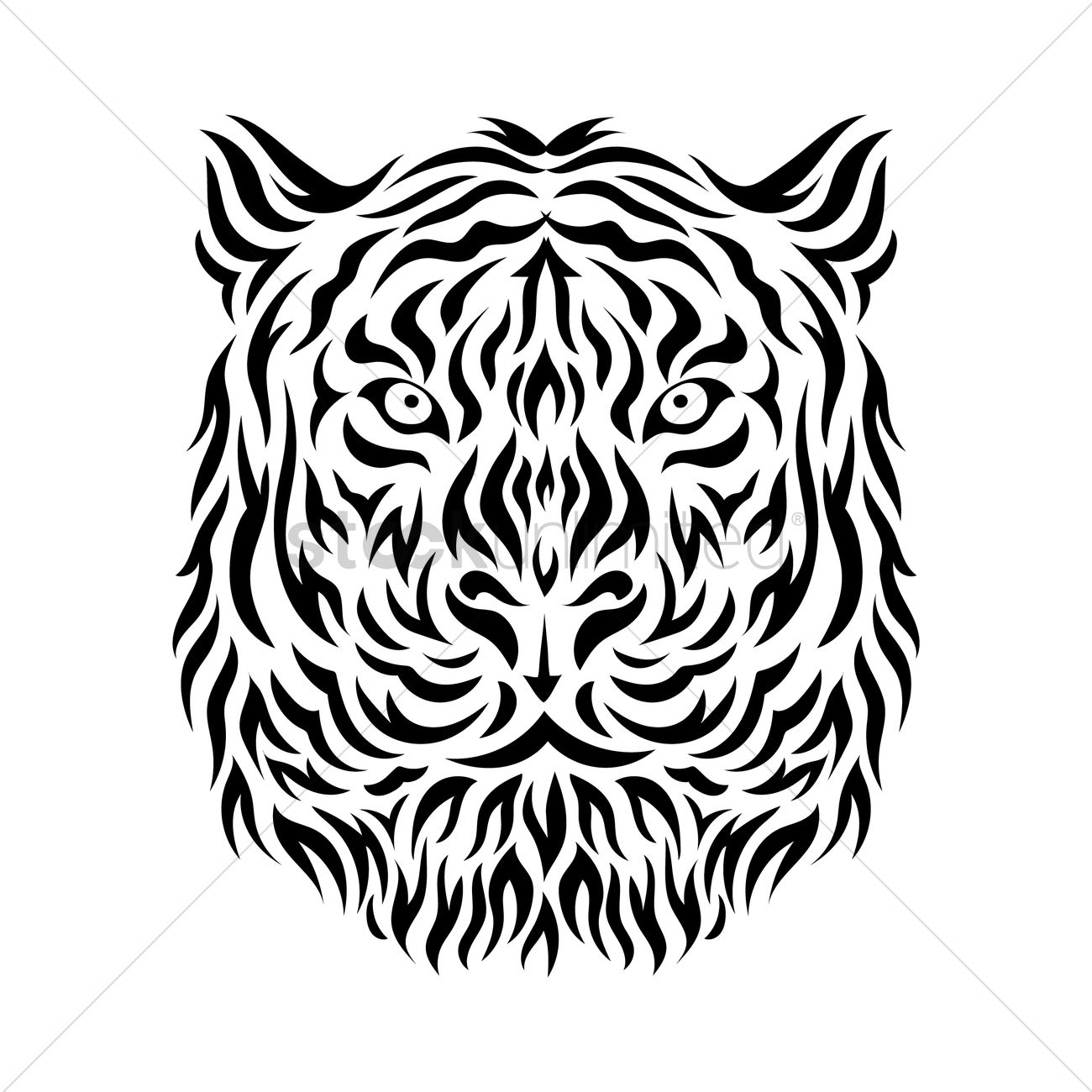 e4f38295a Tiger tattoo design Vector Image - 1432377 | StockUnlimited