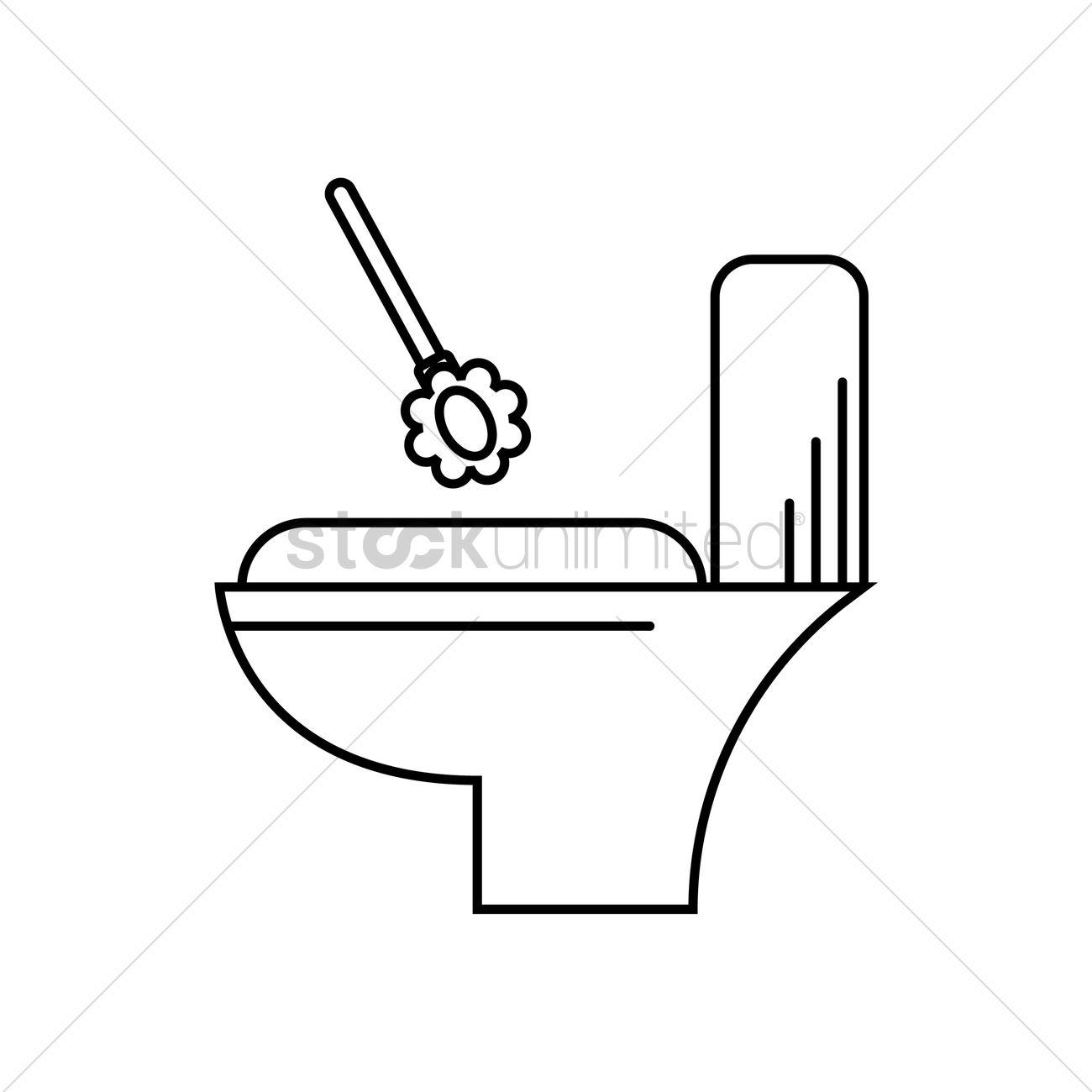 Toilet Brush Vector Graphic