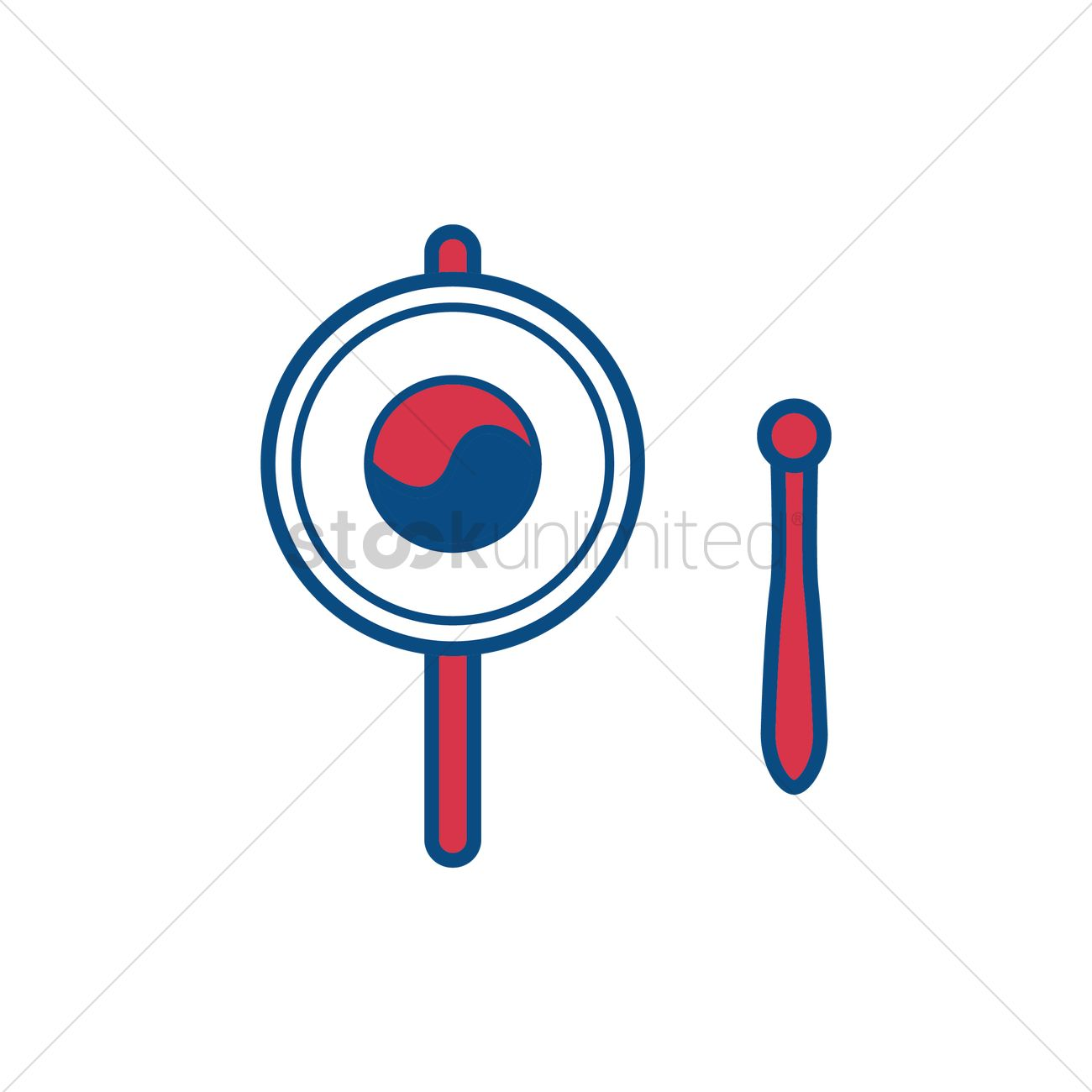Free Traditional Korean Hand Drum Vector Graphic